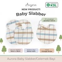 Aurora Baby Slaber/Celemek Bayi - Vintage Stripe