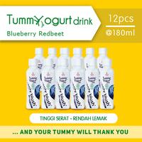 Heavenly Blush Tummy Yogurt Drink Blueberry Redbeet 180 ml (12 Pcs)