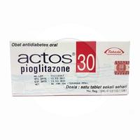 Actos Tablet 30 mg (1 Strip @ 7 Tablet)