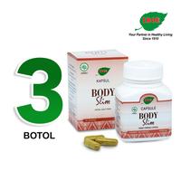 Jamu IBOE - 3 Botol Body Slim Herbal Supplement 30 Kapsul