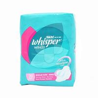 Whisper Regular Flow Wings - 20 Pads