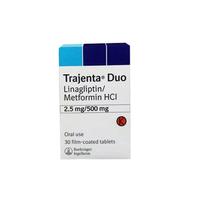 Trajenta Duo 2,5 mg/500 mg (1 Strip @ 10 Tablet)
