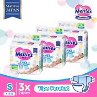 Merries Baby Diapers S 24S - Triple Pack