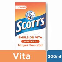 Scott's Emulsion Vita Rasa Jeruk dengan Vitamin A dan D + Kalsium 200 mL