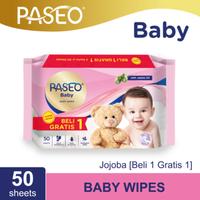 Paseo Baby Tissue Basah Jojoba 50 Sheets (Buy 1 Get 1 FREE)