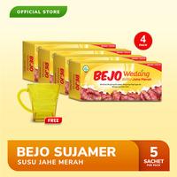 Bejo Susu Jahe Merah (SUJAMER) 4 Pack (20 Sachet) FREE Gelas