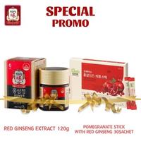 Cheong Kwan Jang Promo Spesial Korean Red Ginseng Extract 120 g + Extract Ginseng Merah dan Buah Delima