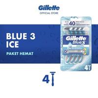 Gillette Blue 3 Ice Razor - Alat Cukur (4 Pcs)
