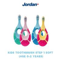 Jordan Kids Toothbrush Step 1 (0-2 Years) Soft (1 Pack @ 1 Pcs)