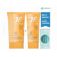 Beli 3 Gratis 1 JF AntiAcne Facial Foam 70 g FREE Exclusive Masker SehatQ