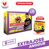 Extra Joss Laki Anggur 5 Pack (30 Sachet) FREE Masker