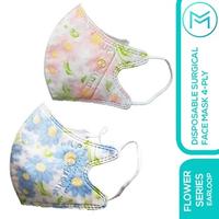Maskit Masker Duckbill Hijab/Headloop - Flower Series - Hawaii Pink (10 Pcs)