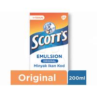 Scotts Emulsion Original dengan Omega 3, Vitamin A dan D 200 mL