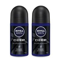 NIVEA MEN Deodorant Deep Roll On 50 ml - Twin Pack