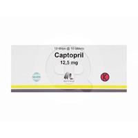 Captopril Indofarma Tablet 12.5 mg (1 Strip @ 10 Tablet)