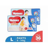 Huggies Dry Pants Popok Celana L 36 (2 Pack)