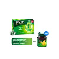 Brand's Saripati Ayam Original 42 g Free 1 Botol Brand's Ginseng Amerika