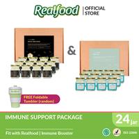 Realfood Immune Support Bundle Stay Fit dan Royal Wellness Free Foldable Tumbler