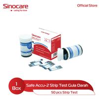 Sinocare Safe Accu-2 Strip Test - Gula Darah (50 Pcs)