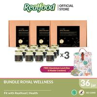 Realfood Royal Wellness Triple Bundle Free Lunch Bag and Masker