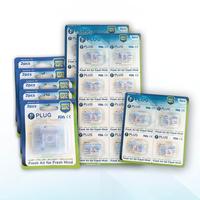 PLUG Nasal Filter Mix A 8 Pack (5 Pack @ 2 Pcs, 2 Pack @ 8 Pcs, & 1 Pack @ 4 Pcs)