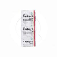 Captopril Tablet 25 mg (1 Strip @ 10 Tablet)