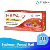 Hepa-Q Kapsul (5 Strip @ 6 Kapsul) - Suplemen Untuk Fungsi Hati