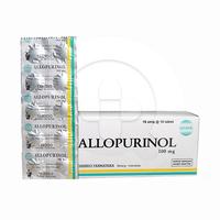 Allopurinol Yarindo 100 mg (1 Strip @ 10 Tablet)