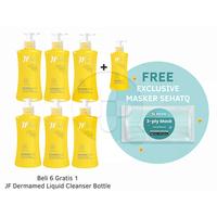 Beli 6 Gratis 1 JF Dermamed Liquid Cleanser Bottle 200 mL FREE Exclusive Masker SehatQ