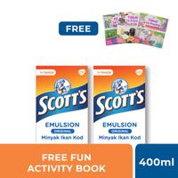 Buy 2 Scott's Emulsion Original 400 ml Get Fun Activity Book Cerita Rakyat