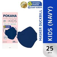 Pokana Masker Anak Duckbill - Deepsea Navy (1 Box @ 25 Pcs)