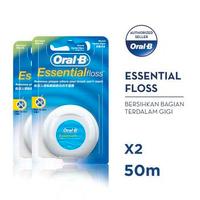 Oral-B Benang Gigi Essential Floss 50 M - Paket isi 2
