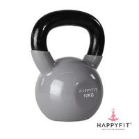 Happyfit Kettlebells Vinyl 10 Kg - Grey