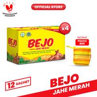 Bejo Jahe Merah Sachet 4 Pack (48 Sachet) FREE Pouch