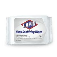 Lapin Hand Sanitizing Wipes - Putih (1 Pack @ 30 Lembar)
