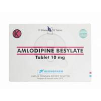 Amlodipine Bernofarm Tablet 10 mg (10 Strip @ 10 Tablet)