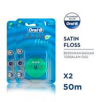 Oral-B Benang Gigi Satin Floss 50 M - Paket isi 2