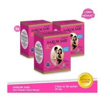 Harum Sari Deo Powder Extra Wangi 13 g (3 Box)