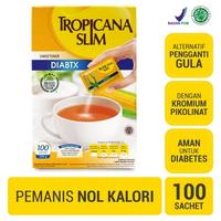 Tropicana Slim Sweetener Diabtx (1 Box @ 100 Sachet)