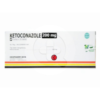 Ketoconazole Hexpharm Tablet 200 mg (1 Strip @ 10 Tablet)