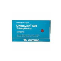 Urfamycin Kapsul 500 mg (1 Strip @ 10 Kapsul)