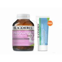 Blackmores Pregnancy & Breast-Feeding Gold (120) FREE Vitamin E Cream