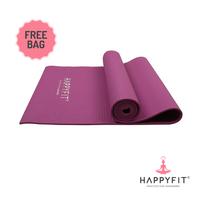 Happyfit Yogamat PVC Polos 6 mm Purple + Tas
