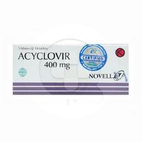 Acyclovir Novell 400 mg (1 Strip @ 10 Tablet)