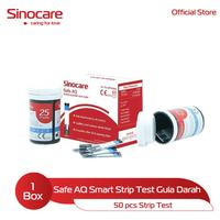 Sinocare Safe AQ Smart Strip Test - Gula Darah (50 Pcs)