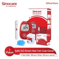 Sinocare Paket Safe AQ Smart Kits - Alat Cek Gula Darah