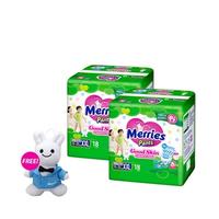 Merries Pants Good Skin L 30'S Twinpack - FREE Bunny Rattle