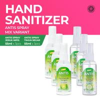 Antis Botol Spray Timun 3 x 55 mL & Jeruk Nipis 3 x 55 mL
