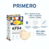 Primero Masker KF94 4Ply Beige (1 Box @ 50 Pcs)