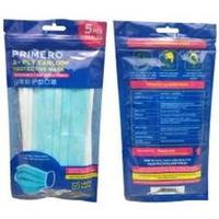 PRIMERO Masker 3-Ply Pack Edition (Sachet @ 5 Pcs)